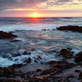 Sunset over the Pacific Ocean Chile