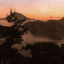 Sunset over the Sea of Japan by Susan Maxwell Schmidt