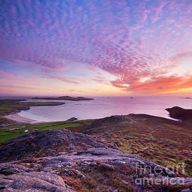 Sunset over Whitesands Bay, Pembrokeshire, South Wales by Justin Foulkes