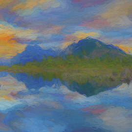 Sunset Reflections On Vermillion Lake by Dan Sproul
