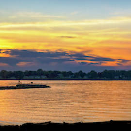 Sunset Silhouette Pano by Brian Wallace