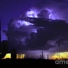 Sunset, Storm, And Stars by Douglas Taylor