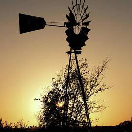 Sunset Windmill by Gary Richards