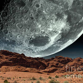 Super Moon Valley of Fire Awesome  by Chuck Kuhn