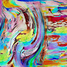 Surf play sway abstract by Silver Pixie