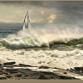 Surf Sail, Pemaquid Point, Maine by Dave Higgins