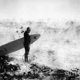 Surfer - Black And White by Anthony Ellis