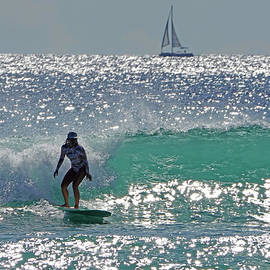 Surfergirl Silver Seas Waikiki by Kevin Smith