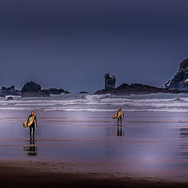 Surfing Indian Beach by David Patterson