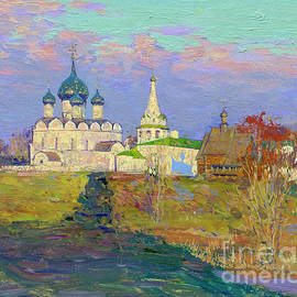 Suzdal. Nativity Cathedral in the evening by Simon Kozhin