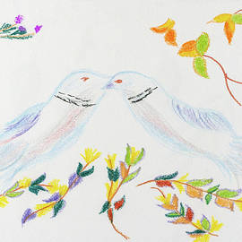 Sweetheart Doves by Meryl Goudey