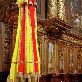 Symbolic Papal Umbrella by Sally Weigand