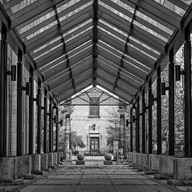 Symmetry in Architecture, Toronto, black and white print by Helen Filatova