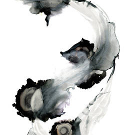 Synergy 1 Monochrome Abstract Alcohol Ink by Nancy Jacobson