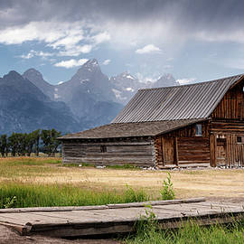T. A. Moulton Barn and Clearing Storm by Stephen Stookey