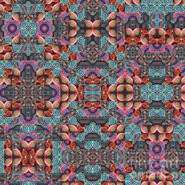 T J O D Mandala Series Puzzle 7 Variations 1 to 9 by Helena Tiainen
