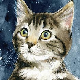 Tabby Kitten Painting by Dora Hathazi Mendes