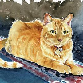 Taffy Orange Tabby Cat Painting by Dora Hathazi Mendes