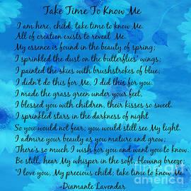 Take Time To Know Me by Diamante Lavendar