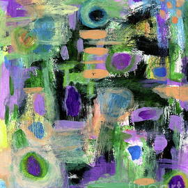 Taking Positive Steps 2 Abstract Expressionist painting by Itaya Lightbourne