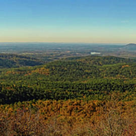 Talimena Scenic Drive Panorama by Judy Vincent