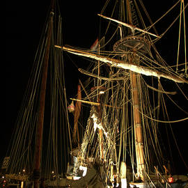 Tall Ship After Dark - Chestertown by Daniel Beard