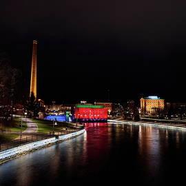 Tammerkoski lights by Jouko Lehto