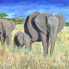 Tanzania Elephant Family 2 by Timothy Hacker