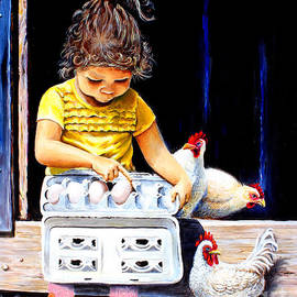 Tatiana counting her chicks by Pechez Sepehri
