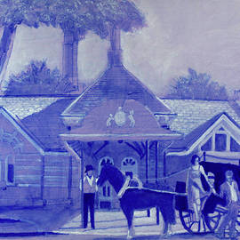 Tavern on the Green drawing by David Zimmerman