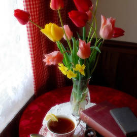 Tea, Tulips and Tennyson by Dianne Sherrill
