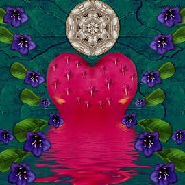Temple Island of love in moon lights peace by Pepita Selles