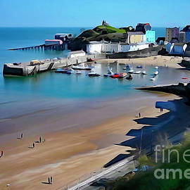 Tenby Harbour Paintograph by Mark Haynes