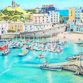 Tenby Harbour, Pembrokeshire, Wales by Biljana Reynolds