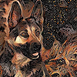 Tex the German Shepherd Dog by Peggy Collins