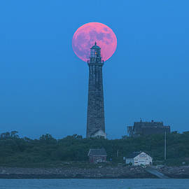 Thacher Island South Tower with Full Buck Moon by Juergen Roth