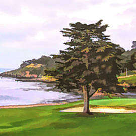 The 18th Green Pebble Beach Golf Links  by Floyd Snyder