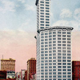 The 42 story L. C. Smith tower Building, Seattle, Wasjhngton Circa 1915 by California Views Archives Mr Pat Hathaway Archives