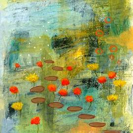 The Adventure Begins 1 Abstract Landscape painting by Itaya Lightbourne