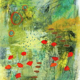 The Adventure Begins 2, Abstract Landscape Floral Painting by Itaya Lightbourne