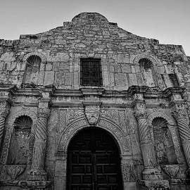 The Alamo Black and White by Judy Vincent