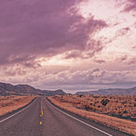 The Allure of the Open Road - Davis Mountains State Park - Fort Davis Chihuahua Desert - West Texas by Silvio Ligutti