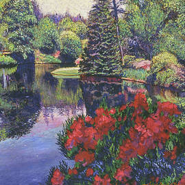 The Azaleas Bloom In The Park by David Lloyd Glover