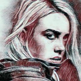 Billie Eilish Pastel Portrait by Tianna White