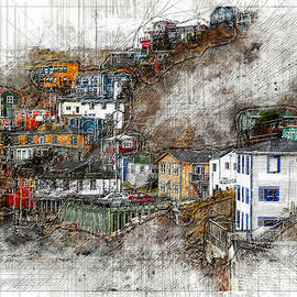 The Battery, digital pencil sketch by Murray Rudd