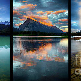 The Beautiful Canadian Rockies Triptych by Bob Christopher
