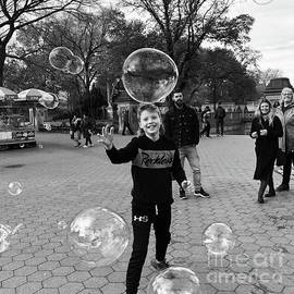 The Big Big Bubble - Central Park New York by Miriam Danar