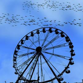The Big Wheel Blue Pane 3 by David Dehner