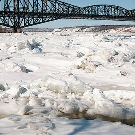 The Bridge of Quebec in Winter by Lieve Snellings