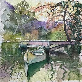 The Canoe - Fall by Luisa Millicent